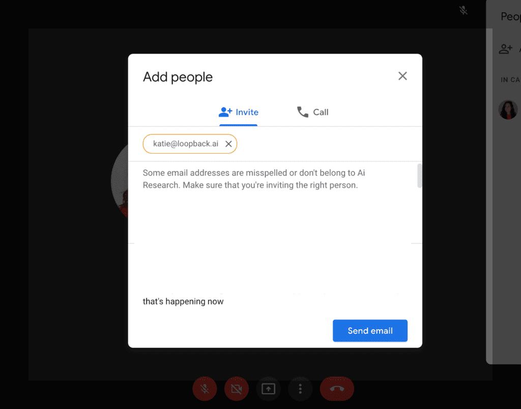 Add participants screenshot