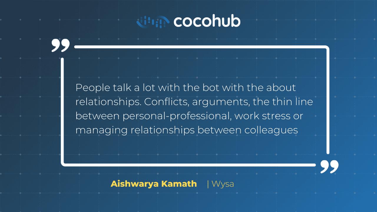 Aishwarya Kamath talks about mental health chatbots