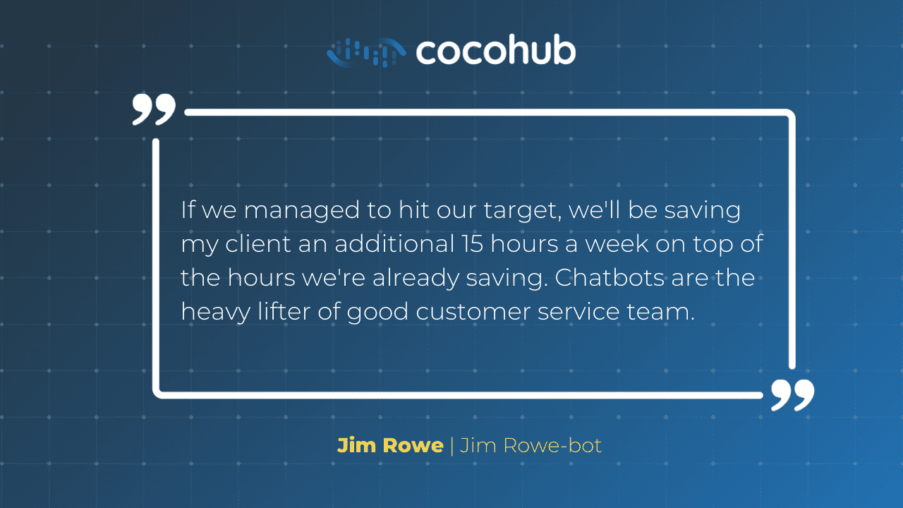 Taking Turns - Jim Rowe quote on chatbots for SMEs